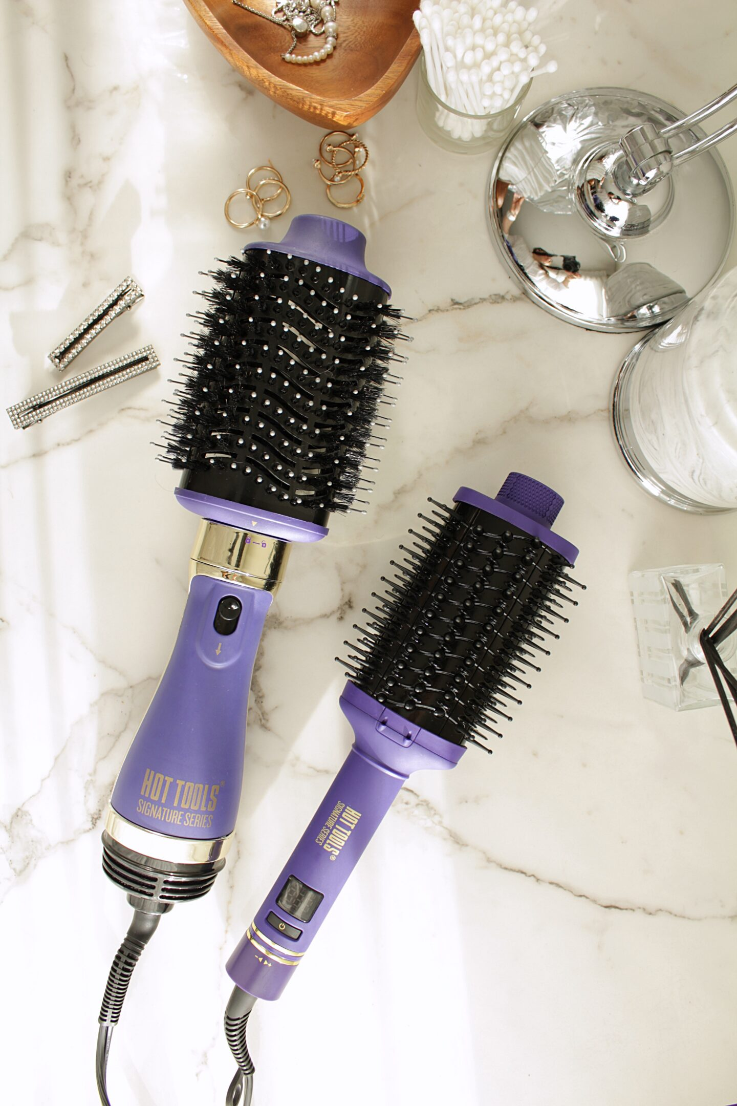 Hot Tools Signature Series | One-Step Blowout Detachable Volumizer and The Ultimate Heated Brush Styler